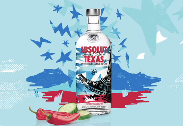 Absolut Unveils Its First State-Inspired Vodka Honoring The Lone Star State