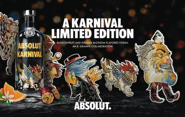 Absolut Unveils Limited Edition 'Karnival' Vodka Bottle