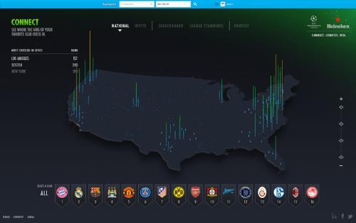 Heineken Unveils the Fan Footprint Heatmap to Connect US Champions League Fans