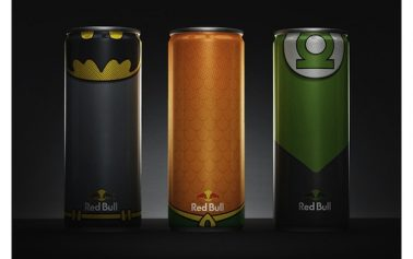 Designer Dresses Up The Red Bull Can In The Uniforms Of Superheroes