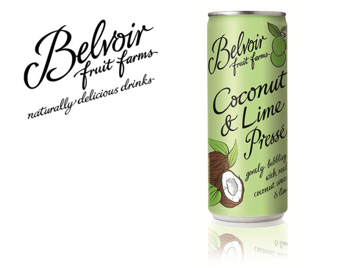 Belvoir Fruit Farms Gets Exotic With New Coconut & Lime Pressé in a Can