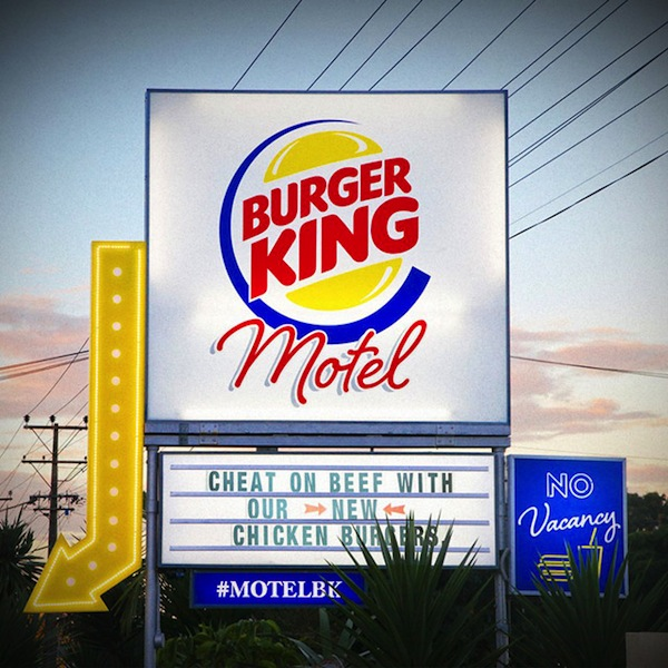 A Pop-Up Burger King Motel Where You Can Eat Its New Burger