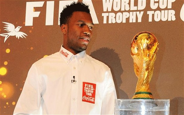 Daniel Sturridge Welcomes FIFA World Cup Trophy Tour by Coca-Cola to UK