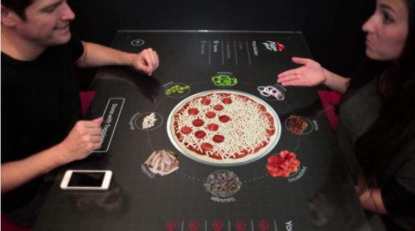 Pizza Hut's Interactive Touchscreen Table Lets You Customize Your Own Pie