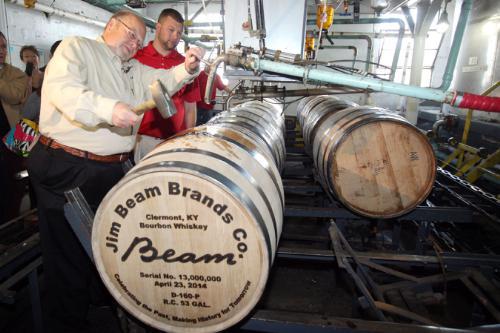 Jim Beam Makes History, Fills 13 Millionth Barrel Of Bourbon