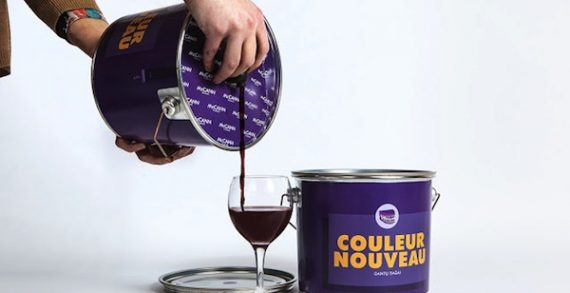 Wine Creatively Packaged in Paint Buckets to Show How it Turns Teeth Purple