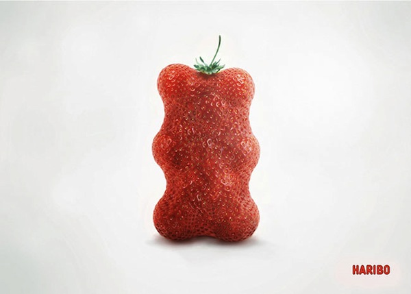 Haribo's Clever Print Ads Feature Fruits That Are Shaped Like Gummy Bears