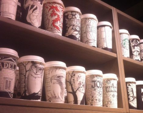 Starbucks Barista in London Creates Elaborate Cup Art for a Few Lucky Customers