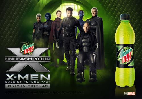 """Mountain Dew Encourages Fans To """"Unleash Your X"""" With X-Men: Days of Future Past Campaign"""