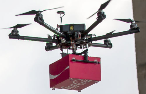 #CokeDrones Make Surprise Landings on Construction Sites in Singapore