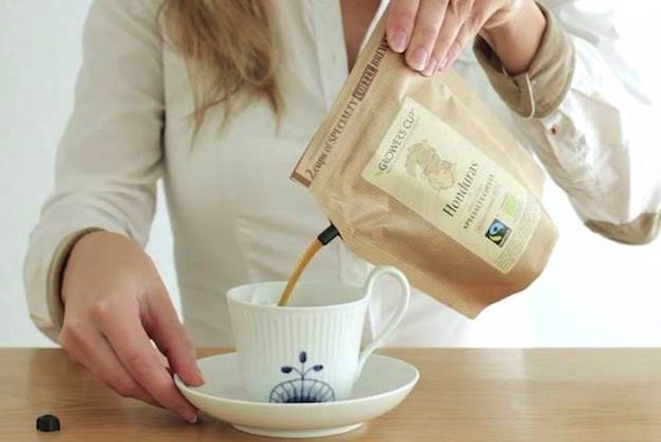 Just Add Hot Water To This Disposable Bag To Brew Two Cups Of Coffee