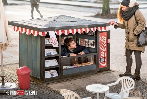 Coca-Cola Installed Mini Kiosks in Germany to Promote Mini Cans