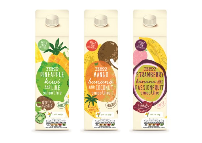 Parker Williams Creates Design For Tesco Smoothies