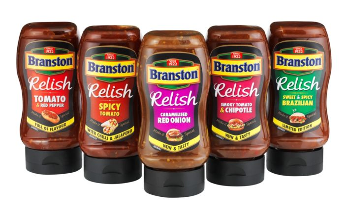 Parker Williams Designs Packaging for Branston's Relish Re-launch