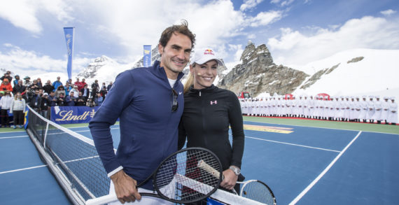 """Roger Federer Opens Lindt Swiss Chocolate Heaven At The Jungfraujoch """"Top of Europe"""""""