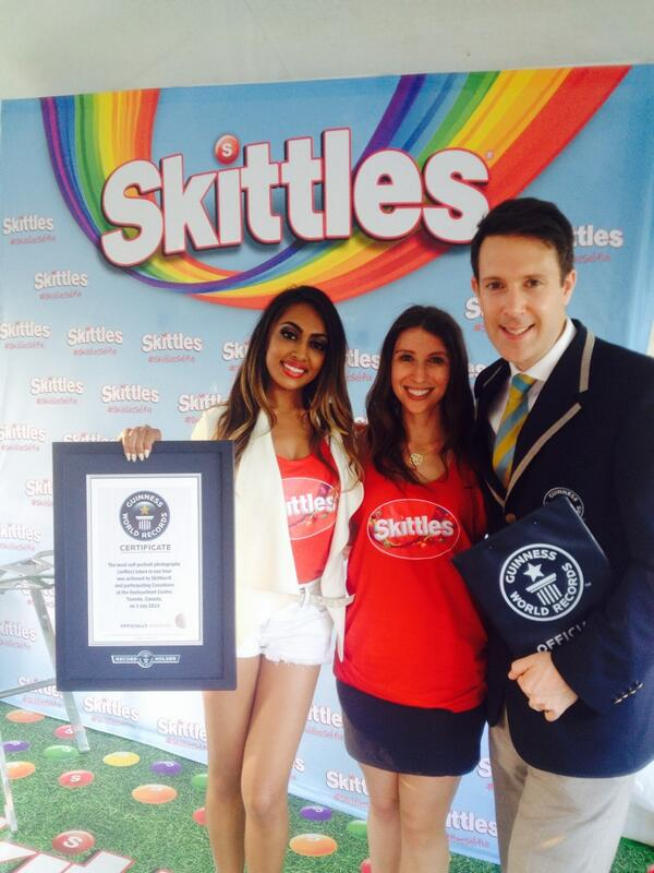 Skittles, Degrassi Star & Patriotic Canadians Break World Selfie Record