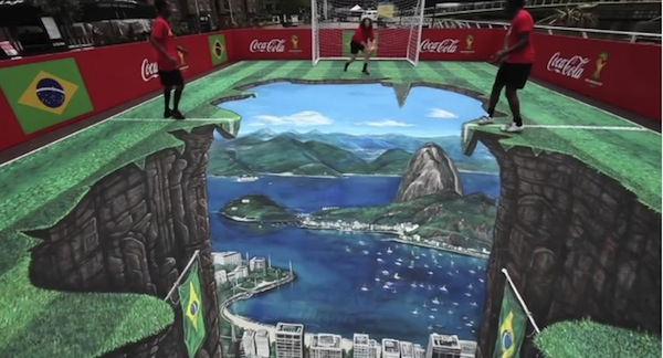 Coca-Cola Unveils Anamorphic Street Mural of Rio in Celebration of The World Cup