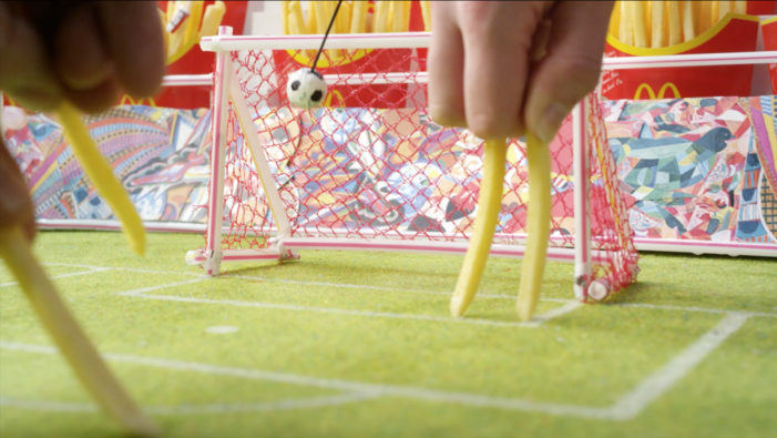 McDonald's Re-enacts FIFA World Cup Highlights Using French Fries