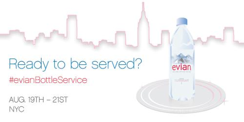 evian Serves Up Bottle Service To NYC With On-Demand Water Delivery