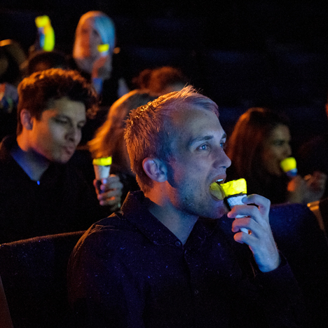 A Glow-In-The-Dark Ice-Cream That Will Make Your Tongue Light Up