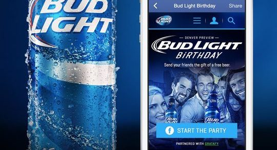 People on Facebook May Now Gift Friends with Bud Light & Budweiser