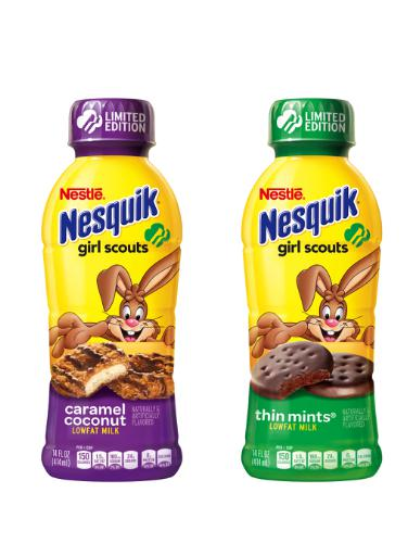 Nestlé Introduces Limited-Edition Nesquik Girl Scout Cookie Beverages