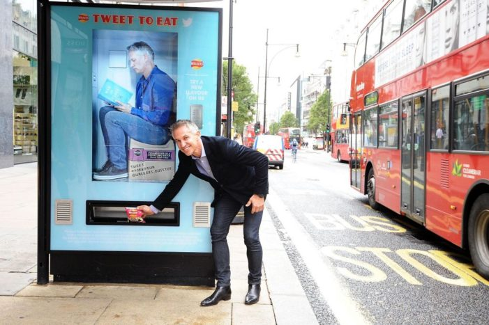Walkers Installs Three Twitter-Activated Vending Machines in London