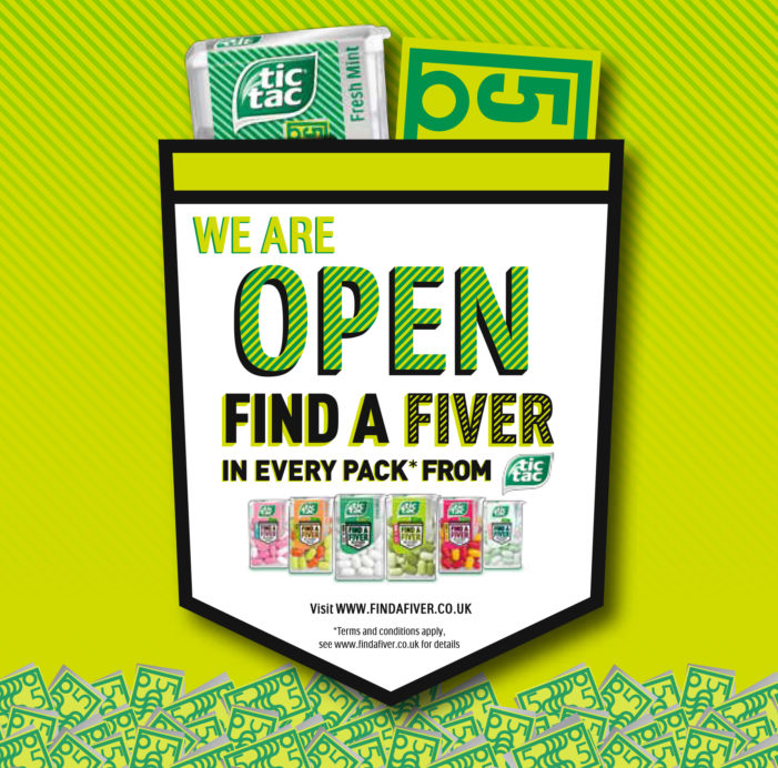 Tic Tac Offers Chance to 'Find a Fiver' in £1.7m Campaign