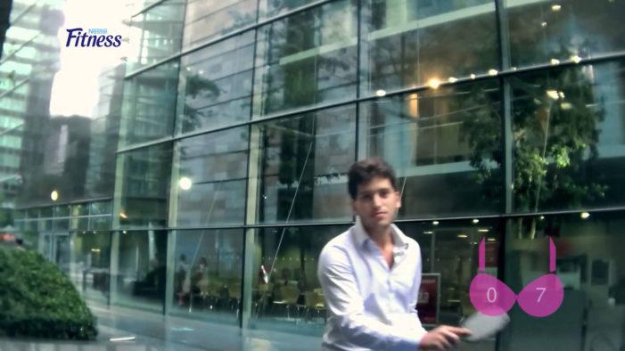 McCann Paris' Bra Cam Catches Peepers for Nestlé FITNESS