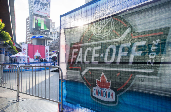 Molson Canadian Celebrates NHL Face-Off & Reveals Epic Mountain Rink