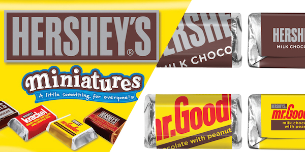 Hershey's Miniatures Sheds Its Old Packaging Design For A Modern Update