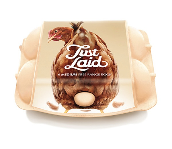 Cheeky Egg Packaging Shows A Hen 'Laying' Fresh Eggs
