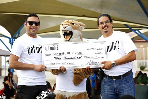 """California Schools Win """"Got Milk?"""" Breakfast Challenge"""