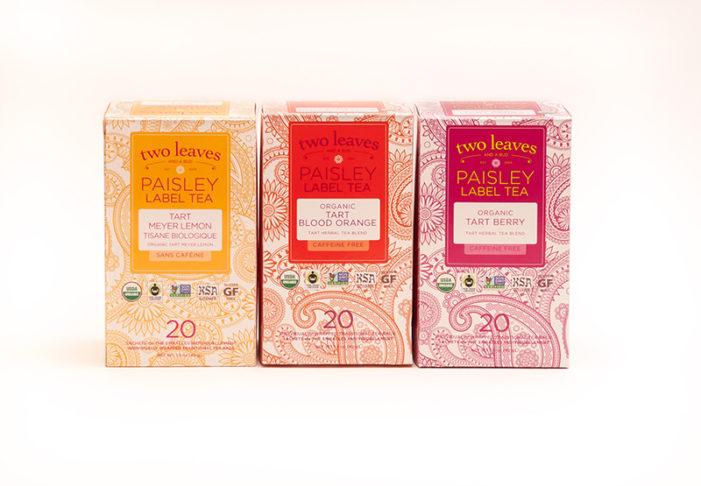 Two Leaves And A Bud Tea Company Unveils New Organic Paisley Tarts