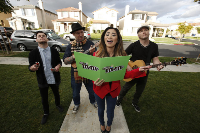 Jessica Sanchez Spreads Holiday Cheer With New M&M's Crispy
