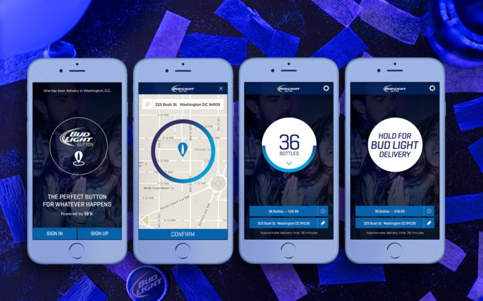 Anheuser-Busch Introduces Bud Light Delivery at the Tap of a Button