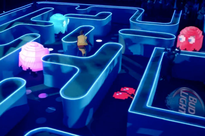 Bud Light Builds A Real-Life Pac-Man Maze For Its Super Bowl XLIX Ad