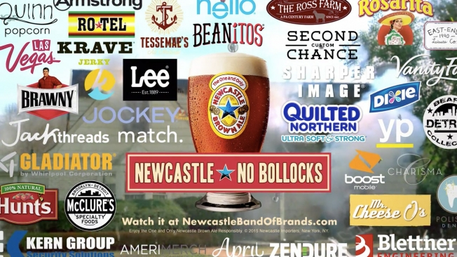 Newcastle Brown Ale Squeezes 37 Brands Into Super Bowl Ad