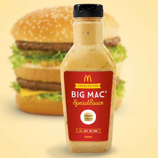 McDonald's Is Now Selling The Secret Sauce In Its Big Mac For US$18,000