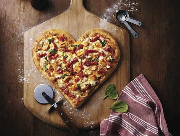 This Valentine's Day, Dig In To This Heart-Shaped Pizza For A Good Cause