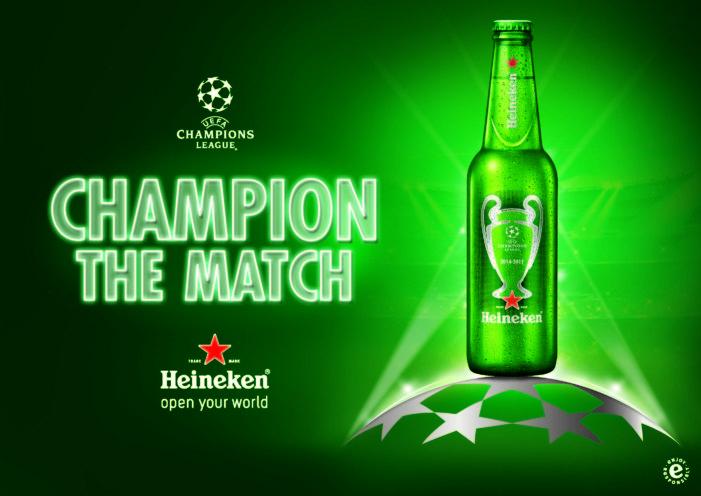 Bulletproof Designs Packaging & Identity for Heineken's UEFA Champions League Campaign