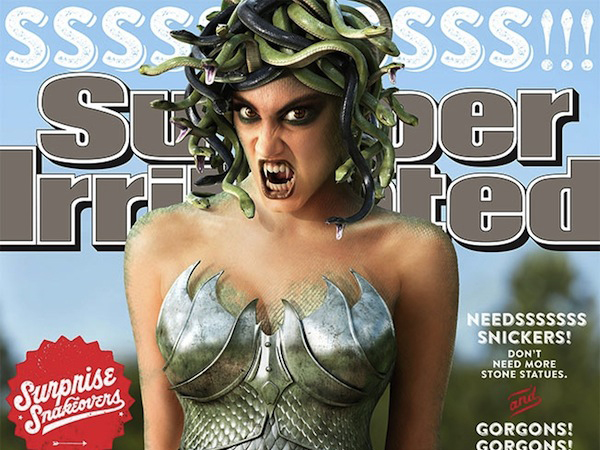 Snickers Swaps Sexy Magazine Cover Model For A Scary-Looking Medusa In Witty Ad