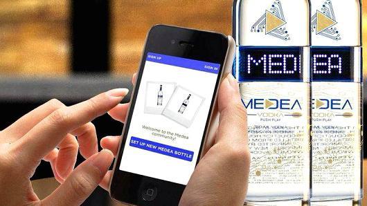 "MEDEA Vodka Lights Up New Bluetooth Technology For ""Message on a Bottle"""