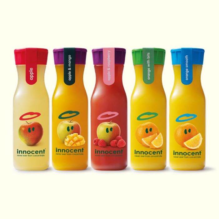 Pearlfisher Redesigns innocent's On-The-Go Juice Range