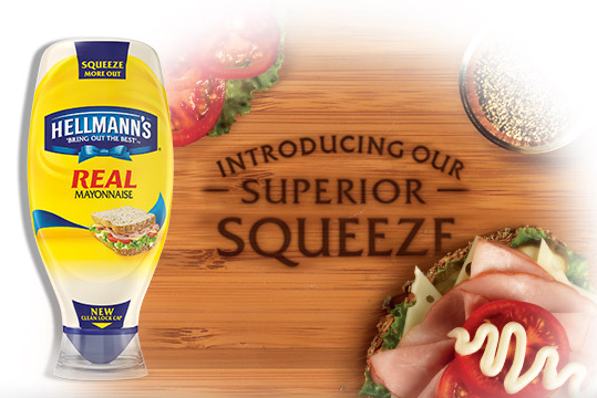 Hellmann's Makes Up For Lost Mayo With New Squeeze Bottle Designed