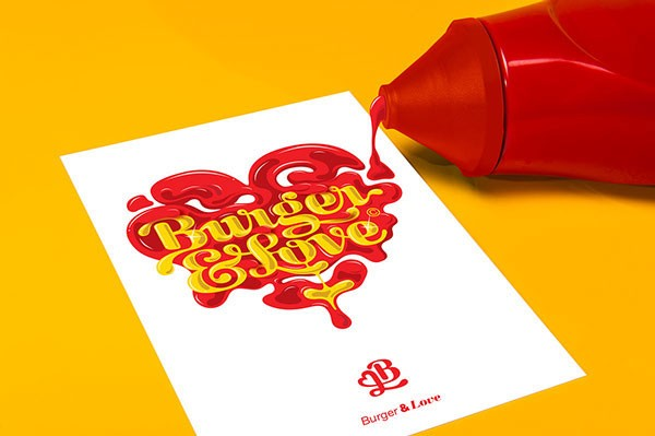 Playful Burger Bar Brand Identity with a 'Ketchup & Mustard' Logo