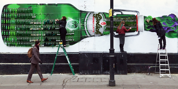 Grolsch Celebrates 400 Years of Beer with Artwork Made of 400 Beer Bottles