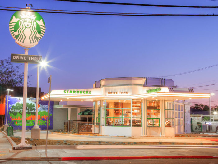 Starbucks Restores 1930s Hollywood Gas Station Into A Beautiful Drive-Thru