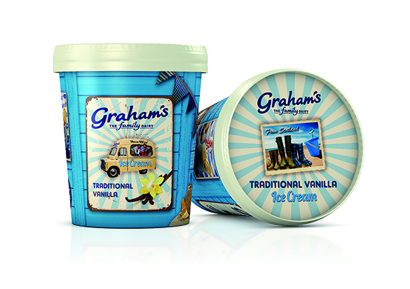 threebrand Create Ice Cool Packaging Range For Graham's The Family Dairy