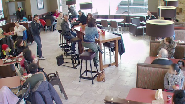 Tim Hortons Pranks Coffee Shop Customers with a Hair-Raising Stunt